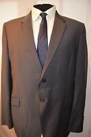 PAUL SMITH -LONDON SMART DESIGNER SLIM FIT GREY STRIPED SUIT JACKET UK 44L EU 54