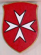 Blason mural Croix de Malte pierre émaillée - décoration murale