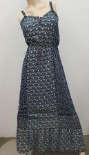 Blue & White Boho Maxi Dress Gap Size M Medium