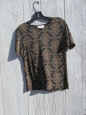 Frazier Lawrence black career blouse top shirt size medium Retails $24