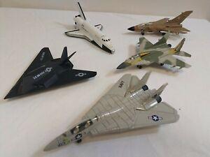 Job Lot 5 Modern Aircraft Ertl Brand Mig29 Tornado F14 Tomcat F117 Stealth Space