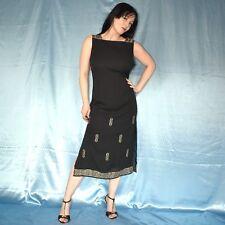 Fine Chiffon Evening Dress M (42) Maxi Sheath Cocktail Polo