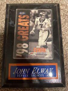 John Elway Plaque