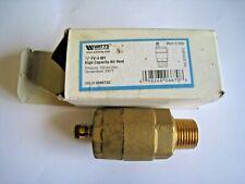 "New listing Watts 1/2"" Fv-4-M1 High Capacity Air Vent Sku# 0590722"