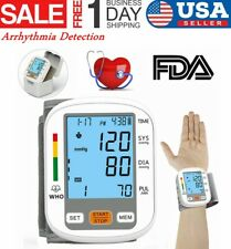 Automatic Digital Wrist Blood Pressure Monitor Portable Heart Rate Test Machine