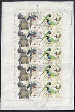 Australia Scott 1677-1678 Xf Used 1998 Wwf Endangered Birds Minisheet of 10
