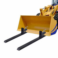 Clamp On Pallet Forks Loader Bucket Skidsteer Tractor Chain 4000 lbs Capacity