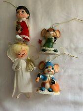 vintage tree decorations mice mouse angel choir boy