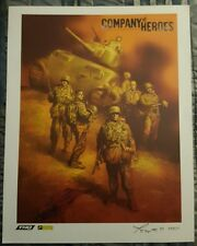 Company Of Heroes Limited Edition Art Lithograph Print THQ