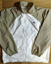 Adidas 90's Vintage Mens Tracksuit Top Jacket White Beige Classic ClimaShell