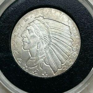 1/4 Quarter Oz .999 Silver Round - American Indian Design - Golden State Mint