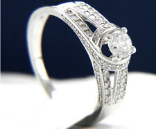 Engagement Ring Sterling Silver Womens Wedding Bridal 0.43 CT Simulated Diamond