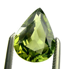 1.20 carats Pear 8x6mm Natural Fancy Green Australian Parti Sapphire - PPS08