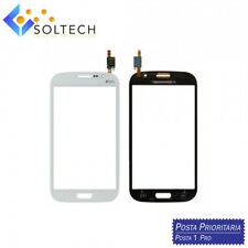 TOUCH SCREEN VETRO + BIADESIVO SAMSUNG GRAND NEO DUOS i9060 i9062 BIANCO WHITE