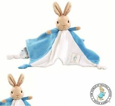 Beatrix Potter Peter Rabbit Comfort Blanket Baby Toy Comforter Pram Toy-Blue