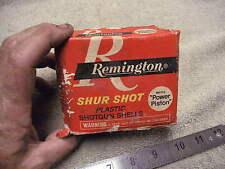 "Vintage Red Remington 16 ga Shotshell box ""with Power Piston""  #9 Shot , EMPTY !"