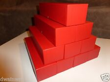 "10 Red Coin Storage Boxes-Single Row (9""x2""x2"") for 2x2s U-DO-ITS Flips + Mylar"