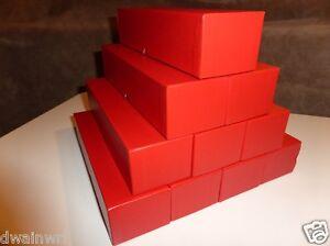 """10 Red Coin Storage Boxes-Single Row (9""""x2""""x2"""") for 2x2s U-DO-ITS Flips + Mylar"""