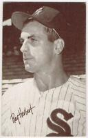 1963 Exhibit Card (W461) with Red Stats of Ray Herbert, White Sox, EX-EX/MT