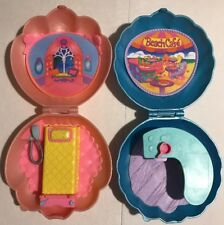 MERWEES Beach Cafe & Bedroom Playset Clamshell Seashell 1997 Cap Toys