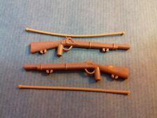 PLAYMOBIL Western - 2 fusils marrons avec bandoulière marron pour soldat/cow boy