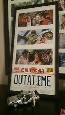 Back to the Future framed art prints with OUTATIME license plate
