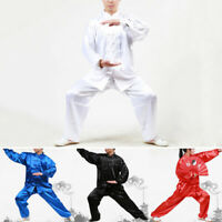 Unisex Martial Arts Uniform Kung Fu Suit Costume Tai Chi Performance Clothes New
