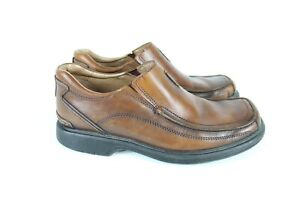 Clarks Mens Slip On Moc Square Toe Loafers Size 9 M 78341 Brown Leather