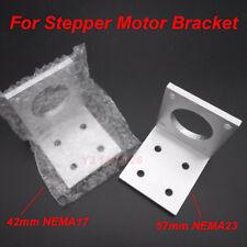 For 42mm Nema 17 57mm Nema23 Stepper Motor Of Cnc Aluminum Mounting Bracket New