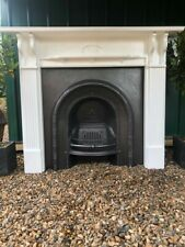 More details for a stunning cast iron arched insert fireplace & solid wood surround (68)