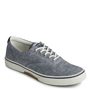 Men's Sperry Top-sider Halyard CVO Chambray Navy Sneakers Style STS22083  US 16