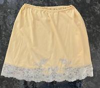 Vintage 60s Van Raalte Mini Half Slip Silky Nylon Lace Size M Semi Sheer USA