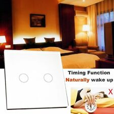 2 Gang 1 Way Fire-proof Wifi Smart Wall Light Lamp Switch Touch Panel White Home