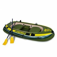 CHEETAH 3 Person Inflatable Floating Rafting and Boat Set with Oars & Pump