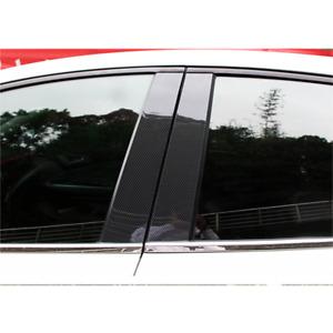 Carbon Fiber Pillar Posts 6 Pcs Cover Door Trim Fit For Honda-Civic 2006-11 RC