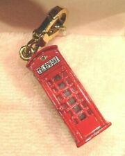 """Juicy Couture London Phone Booth Charm Authentic Red 1.25"""" 2009 Dangle Yjru3129"""