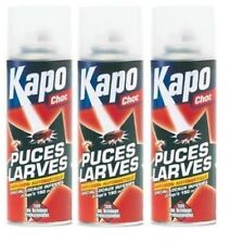 3 INSECTICIDE PUCES LARVES CHOC ANTI INFESTATION DIFFUSION CONTINUE KAPO