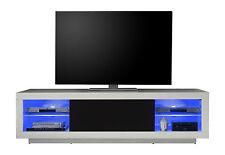 TV-Lowboard Padua, weiß hochglanz, TV-Schrank, TV-Tisch, Fernsehschrank, 180 cm