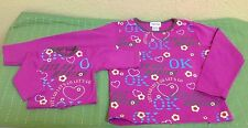My Twinn Girl'S & Doll'S Pink Matching Long Sleeve Let'S Go Shirts Top Set Small