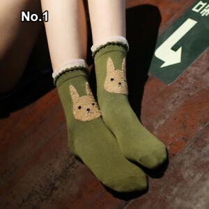 1Pair Women Cartoon Animal Stocking Long Socks Warm Cotton Socks Casual Gift