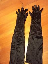 black   long  evening gloves  stretch audrey hepburn type