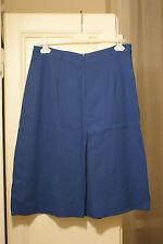 Gonna lana azzurra pieghe vintage wool blue pleated skirt vtg IT48 EU44 UK16