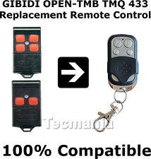 GIBIDI Open TMB 433 Universal Remote Control Trasmettitore Telecomando Del Garage Cancello Fob UK