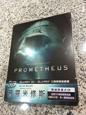 Prometheus 3D/2D Blu-ray Steelbook | Taiwan Exclusive w/ 1/4 Slipcover | OOP