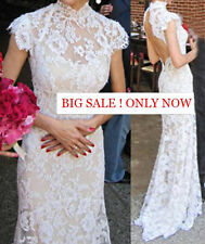 AMAZING Lace Wedding Dress, Sexy Open Back, NWT, Wedding Gown, Choose Your Size,
