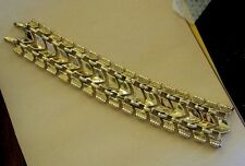 Vintage Goldtone Wide Fancy Arrow Link Bracelet