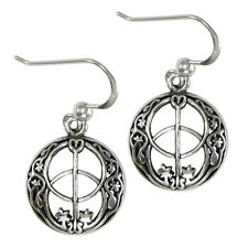 Sterling Silver Chalice Well Dangle Earrings Divine Feminine Symbol Wicca Pagan