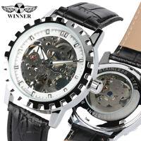 WINNER Men Automatic Mechanical Wrist Watch Skeleton Dial Men's Military Watches