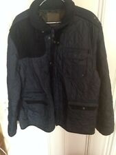 Navy Blue XXL Mens Jacket Coat Buttoned No Hood Zipped Vintage H&M