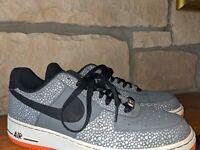 "Nike Air Force 1 One Low AF1 Size 10 ""Safari"" Grey/Black/Total Orange 488298-079"
